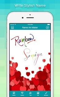 Name Art Ekran Görüntüsü