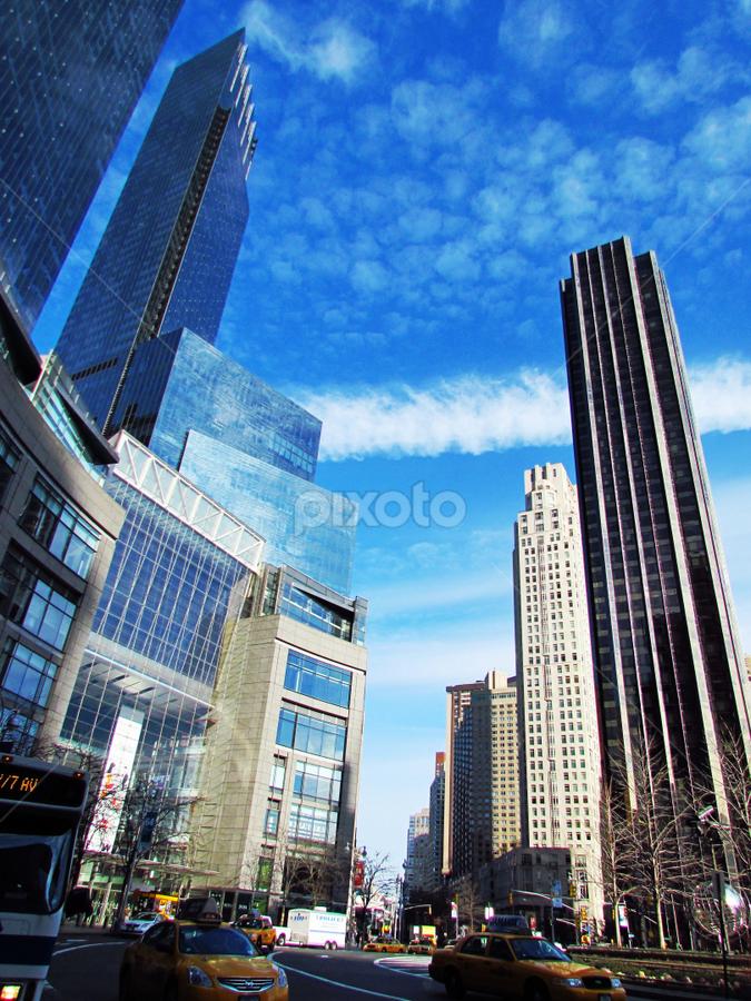 New York by Fabio Ferraro - City,  Street & Park  Street Scenes ( traffic, columbus circle, buildings, new york, central park )