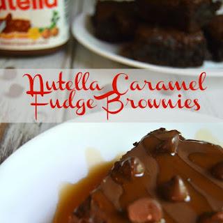 Nutella Caramel Fudge Brownies