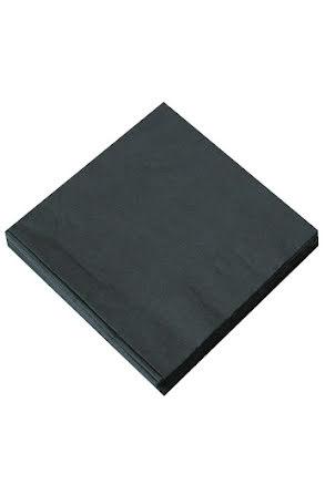Svarta servetter, 20 st