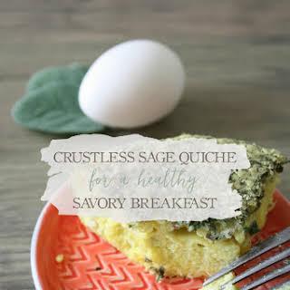 Crustless Sage Quiche.