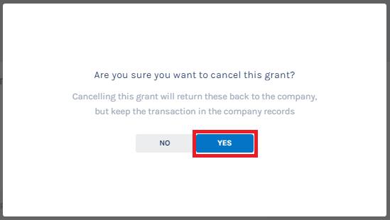 Cancel Grant