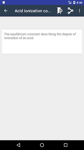 Screenshot 3 Chemistry Dictionary