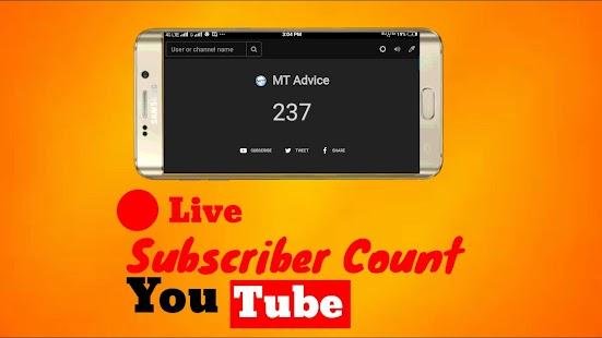 YTubeSubsCount - náhled