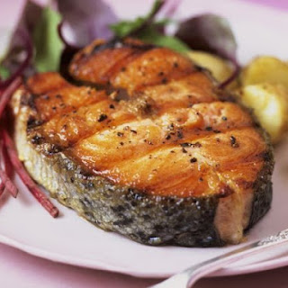 Salmon Steaks with Potatoes