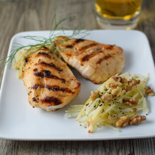 Cider Glazed Chicken with Fennel + Apple Slaw