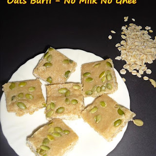 Oats Burfi Recipe | Oats Fudge – Vegan