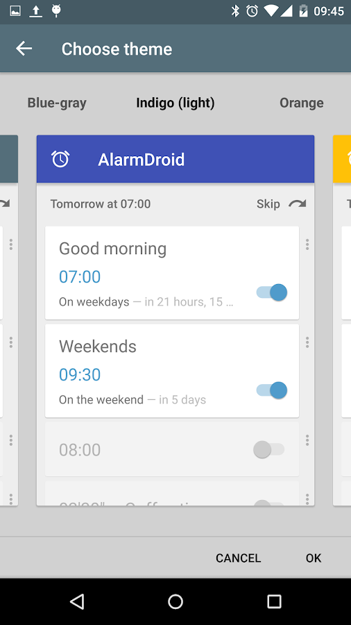 AlarmDroid (alarm clock) - screenshot