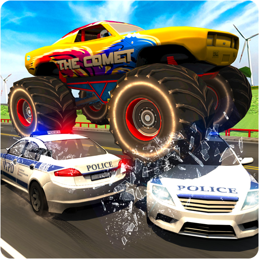 Monster Car Police Chase - Crime City Driving