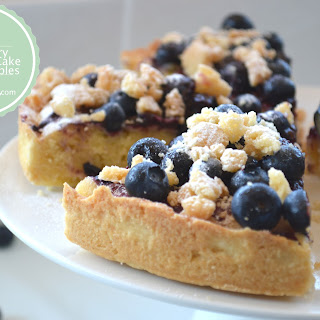 Blueberry Marzipan Crumble Cake