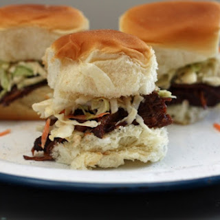Stout Braised Grass-fed Beef Sliders.