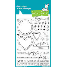 Lawn Fawn Clear Stamps 4X6 - Pizza My Heart