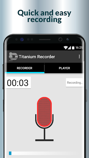 Titanium Voice Recorder with number ID 1.5.197 screenshots 1