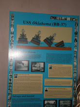 Photo: poster showing what happened to the USS Oklahoma