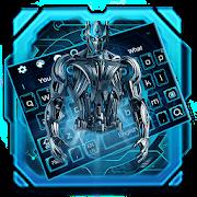 Neon Robot Keyboard