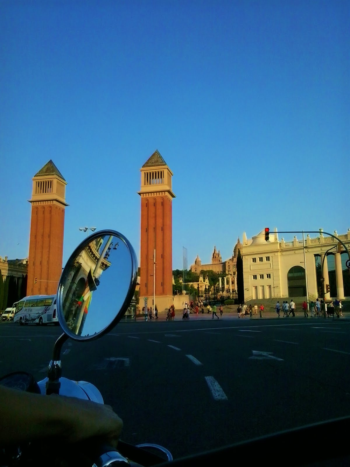 The Venetian Towers leads to the Magic Fountain and the Palau Nacional at Montjuïc