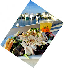 Photo: If you came to Ocean City, 1st have Pino`s Pizza one night  delivered to your condo or for fast pick-up, and then on  another night, head to The Sunset Grill in West Ocean City,  to have the Mahi fingers as a appitizer, and then this Crab  and Shrimp Salad, while drink a few orange crushes of course.