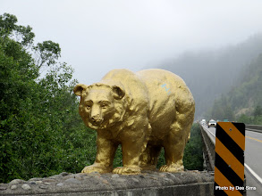 Photo: (Year 2) Day 360 - Bronze Bear Statue on a Bridge