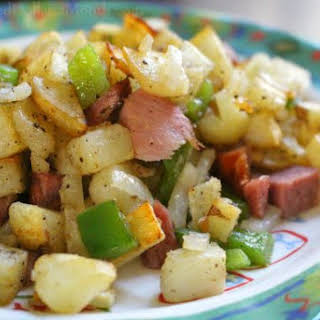 Ham and Potato Scramble.