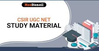 Study Materials for CSIR UGC NET 2020