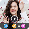 Animation Effect Video Maker with music icon
