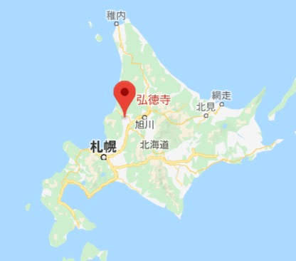 地図:五智山 弘徳寺
