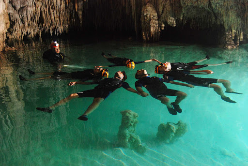 Rio Secreto is an unusual underground river that you can explore in Playa del Carmen, Mexico.