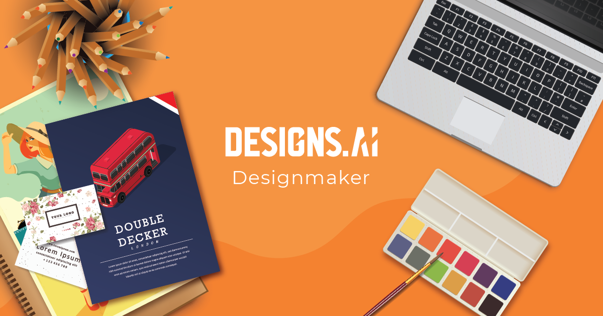 An online graphic design tool - Designmaker from Designs.ai