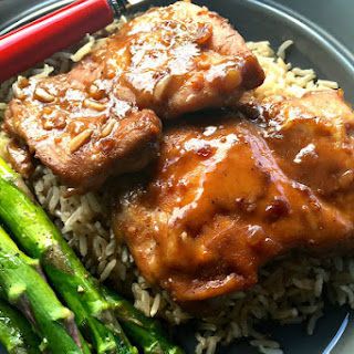 Baked Chai Teriyaki Chicken Thighs.