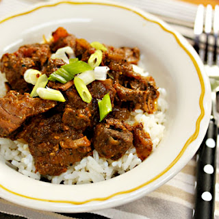 Slow cooker Sindhi beef curry.