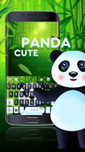 3D Cartoon Panda Keyboard Theme - náhled