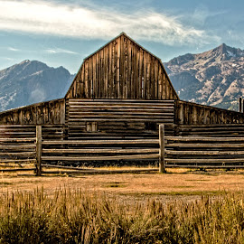 Mormon Barn by Richard Michael Lingo - Buildings & Architecture Other Exteriors ( mountain, barn, buildings, grand teton, architecture )