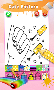 Glitter Nail Drawing Book and Coloring Game 4