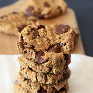 Oatmeal Peanut Butter Chia Chocolate Chip Breakfast Cookies.