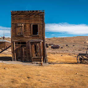 Days Gone By by Ronnie Sue Ambrosino - Buildings & Architecture Decaying & Abandoned ( old, leaning, barn, bodie, ghost town, western, scenery, abandoned,  )