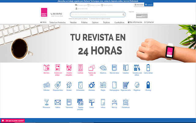 Imprenta online 24, tu imprenta online