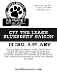 Uncle Bear's Off The Leash Blueberry Saison
