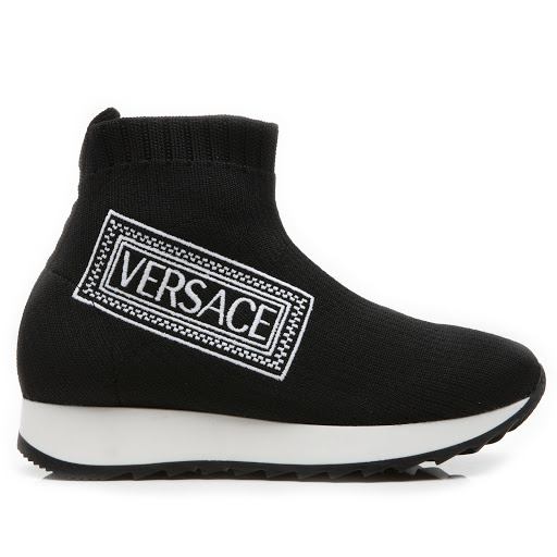 Primary image of Young Versace Logo Sock Trainer