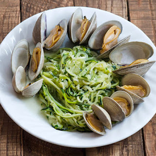 Garlicky Zucchini Linguini Clam Dinner