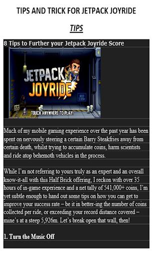 Free Guide For Jetpack Joyride