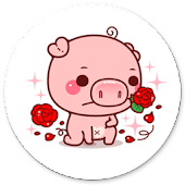 Cute Piggy Sticker for WAStickerApps