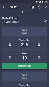 Gym Workout Planner, Strength & Weight Training 3