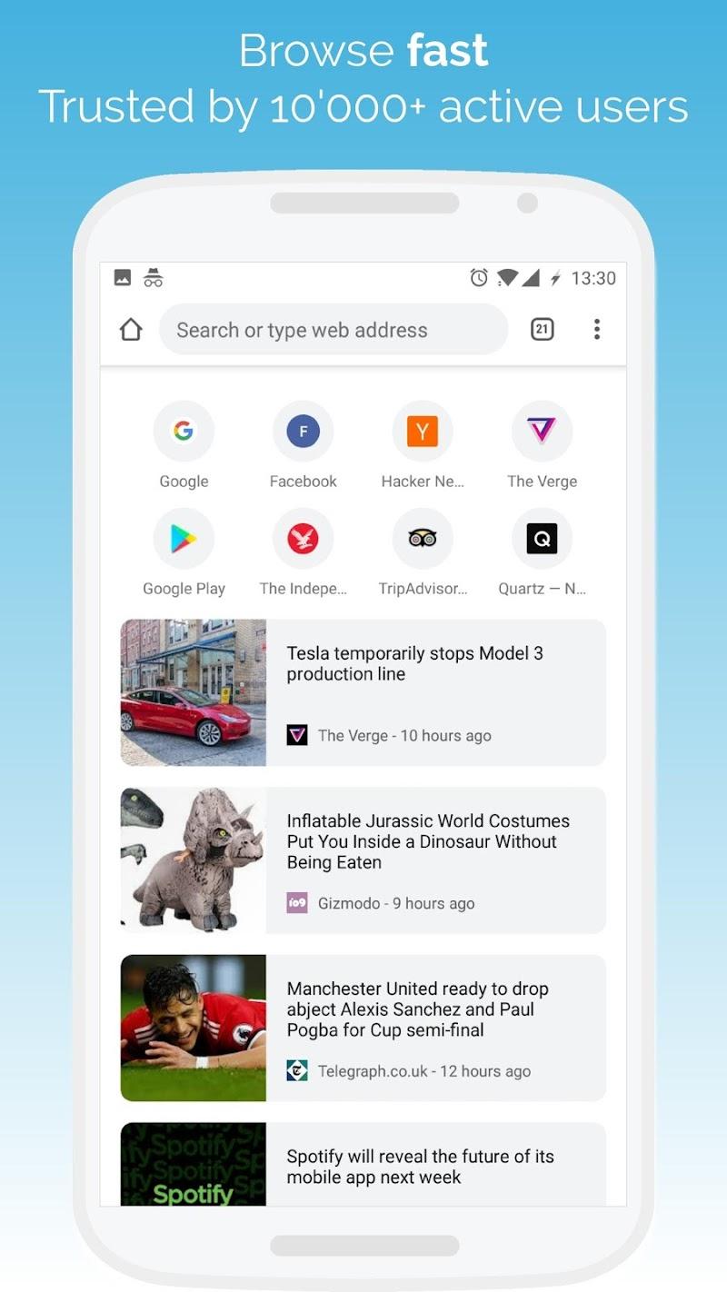 Kiwi Browser - Fast & Quiet (Version Phi)