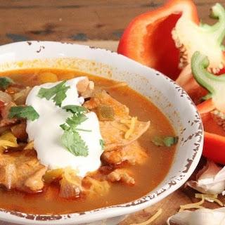 Chicken Fajita Soup.