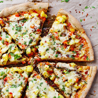 Sweet Chili Garlic Chicken Pizza.