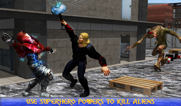 Hammer hero Civil War - Super Hero Boy apk screenshot