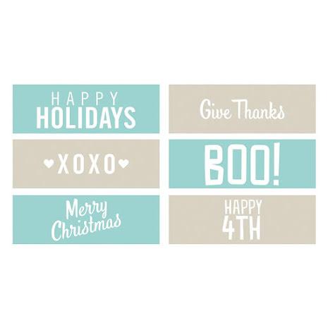 We R Memory Keepers Phrase Strips Embossing Folders - Holiday UTGÅENDE