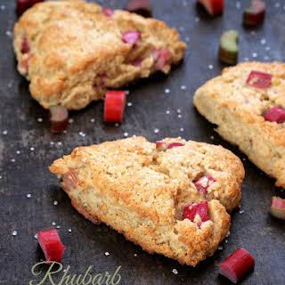 Gluten Free Rhubarb Scones.