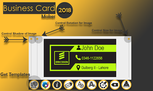 Business card maker 2018 visiting card maker free for Business card generator free