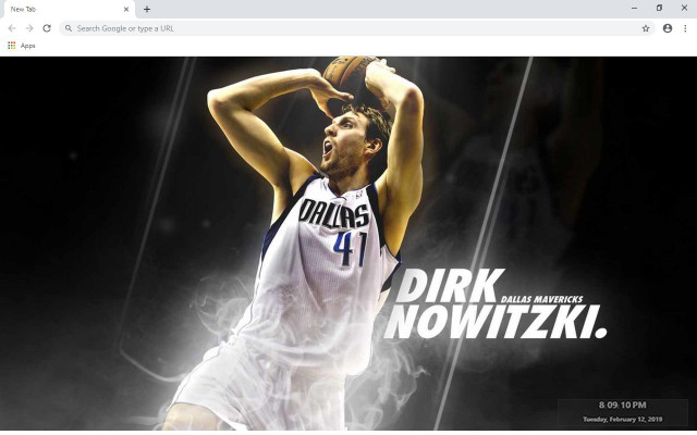 Dirk Nowitzki NBA New Tab